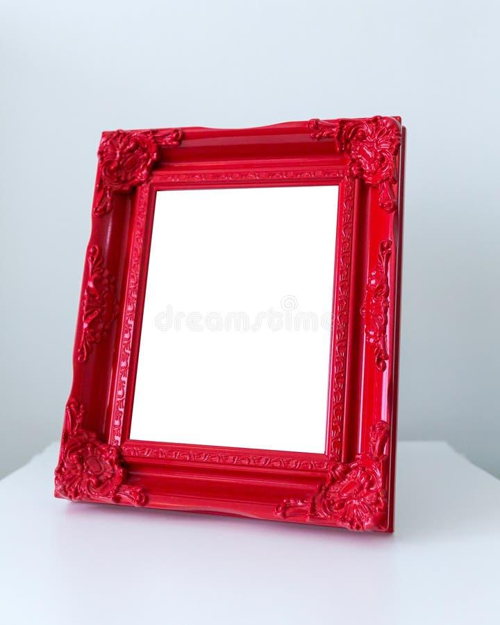 Cornice di legno rossa fotografia stock libera da diritti