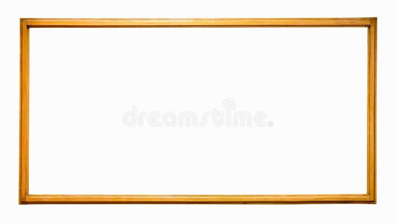 Cornice di legno sottile fotografie stock libere da diritti
