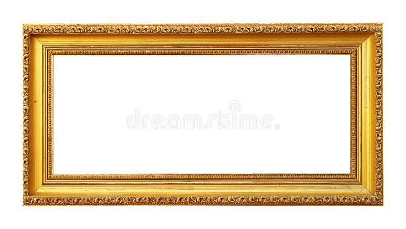 Cornice dorata in bianco fotografia stock
