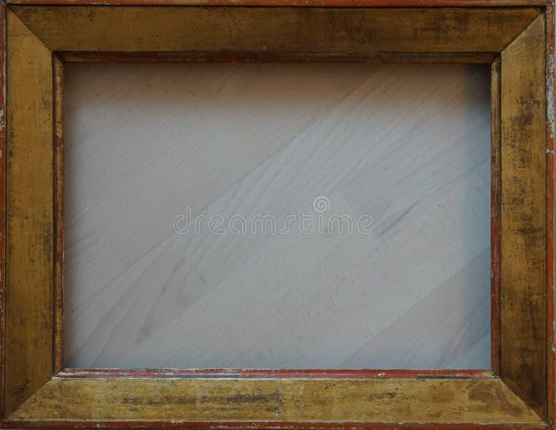 Cornice dorata della vecchia struttura per la galleria fotografia stock libera da diritti