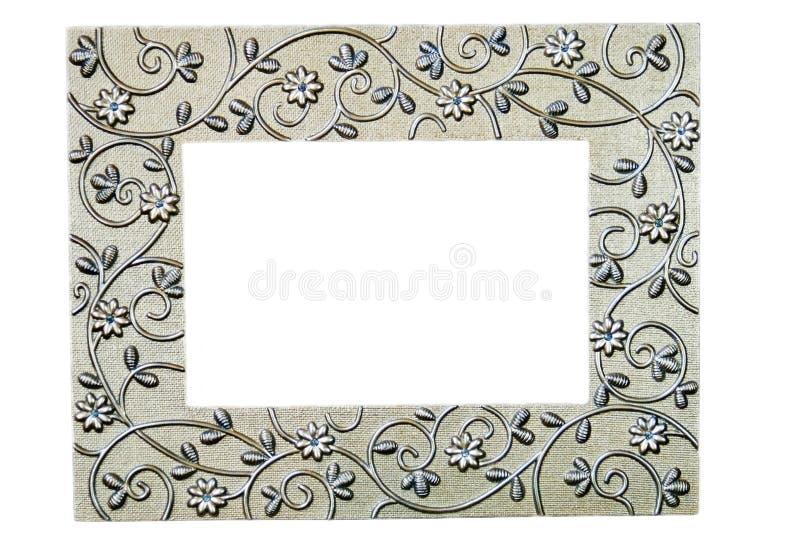 Cornice a filigrana d'argento fotografie stock