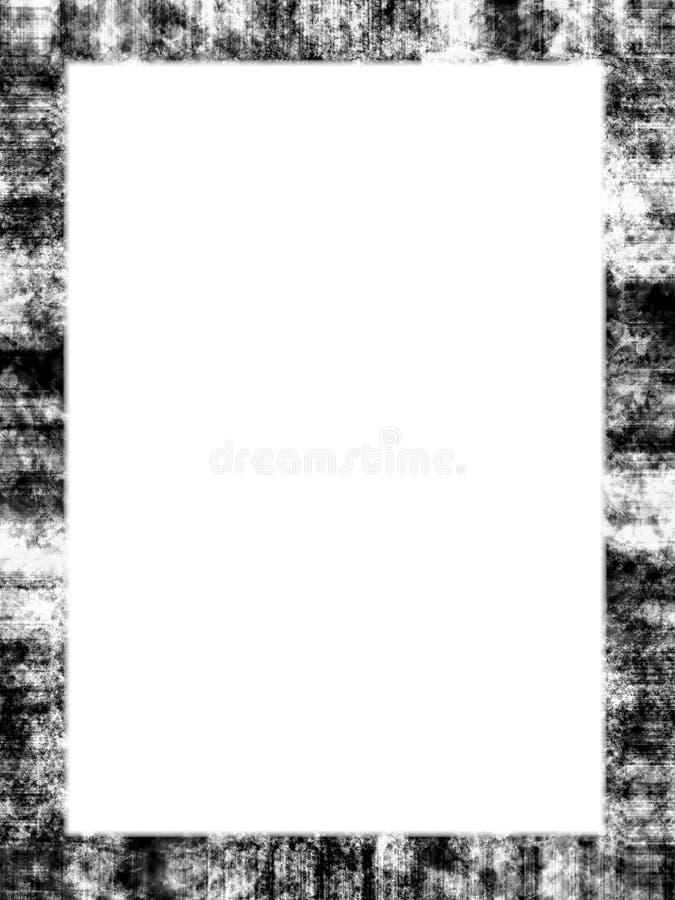 Cornice nera di Grunge illustrazione vettoriale