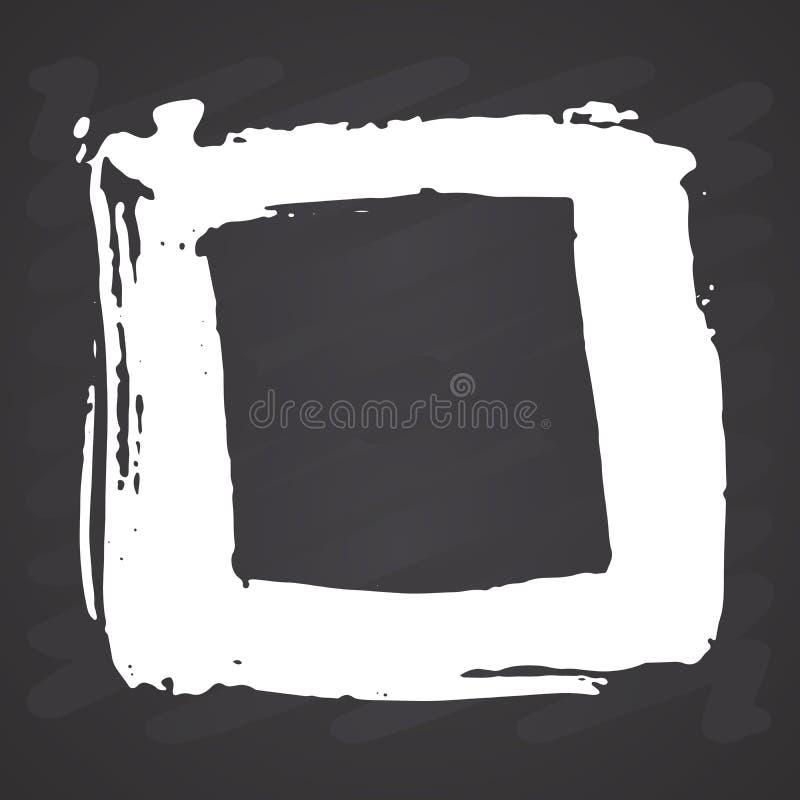 Cornice o casella di testo, grunge elementi disegnati a mano, illustrazione vettoriale sullo sfondo della lavagna royalty illustrazione gratis