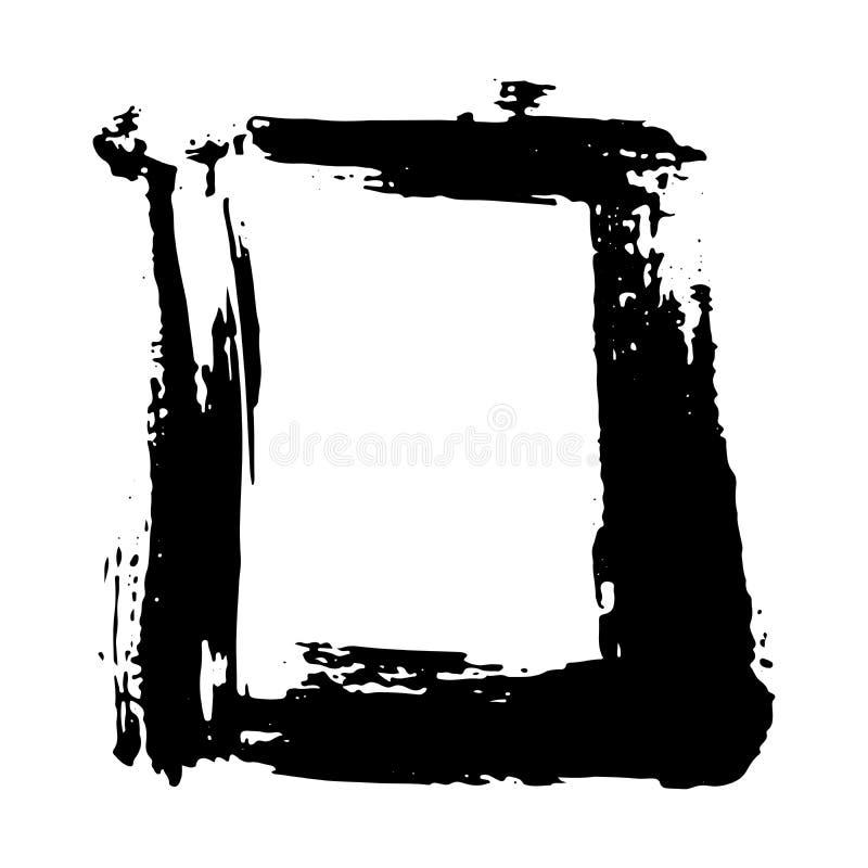 Cornice o casella di testo, serie di elementi disegnati a mano in rilievo, illustrazione vettoriale isolata su fondo bianco royalty illustrazione gratis
