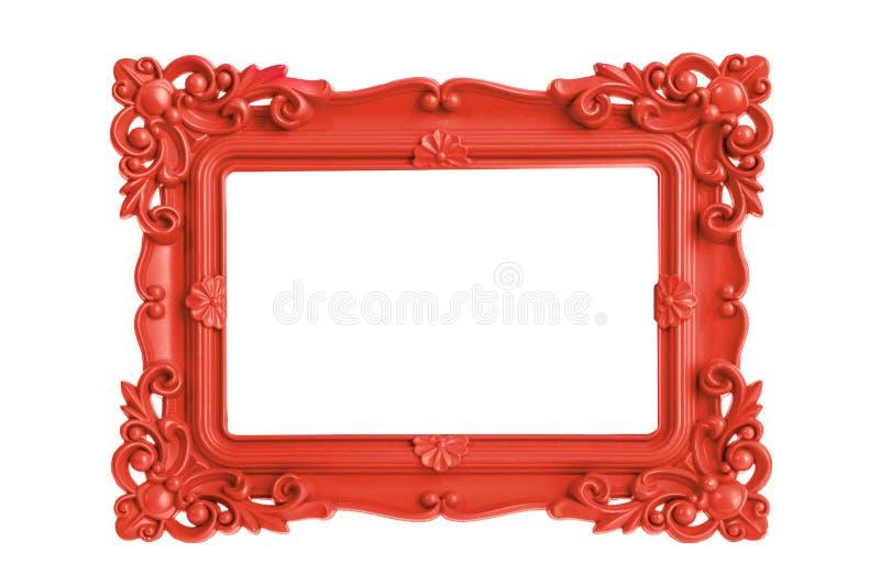Cornice rossa immagini stock
