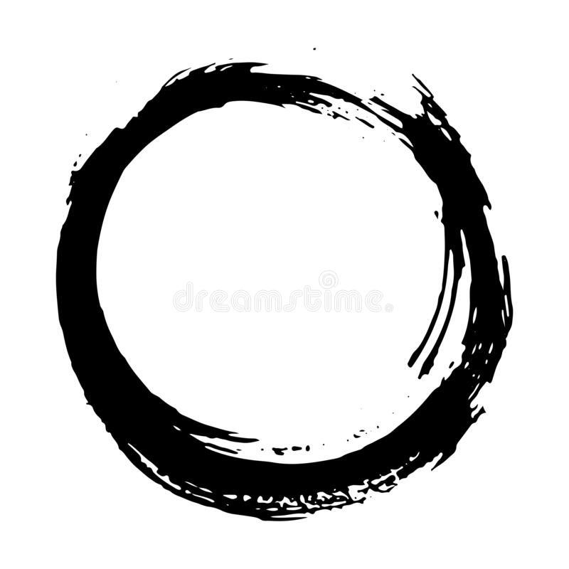 Cornice rotonda, elemento trafilato a mano, illustrazione vettoriale isolata su fondo bianco illustrazione di stock