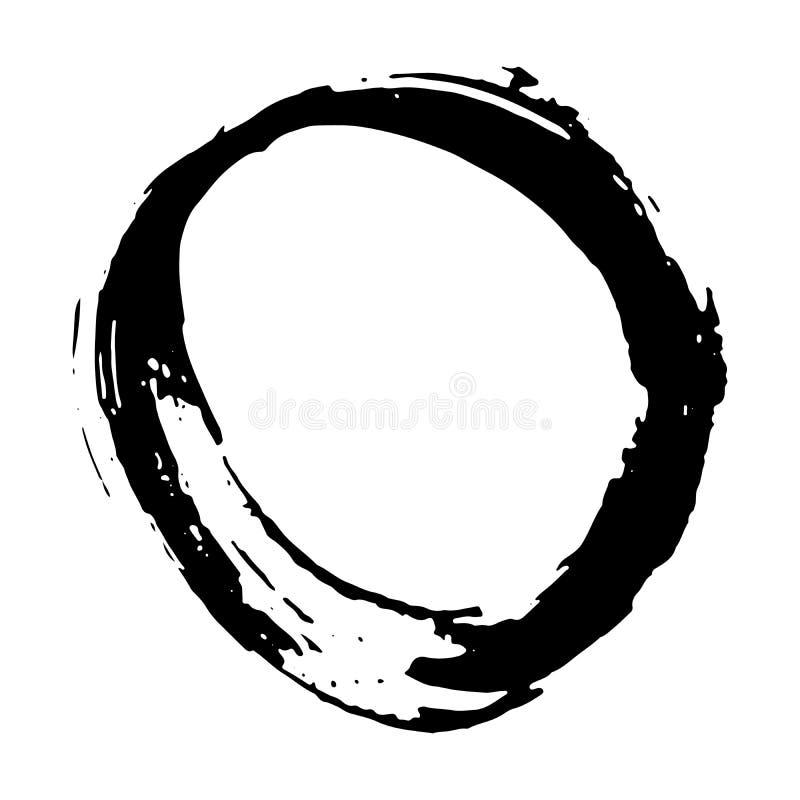 Cornice rotonda, elemento trafilato a mano, illustrazione vettoriale isolata su fondo bianco illustrazione vettoriale