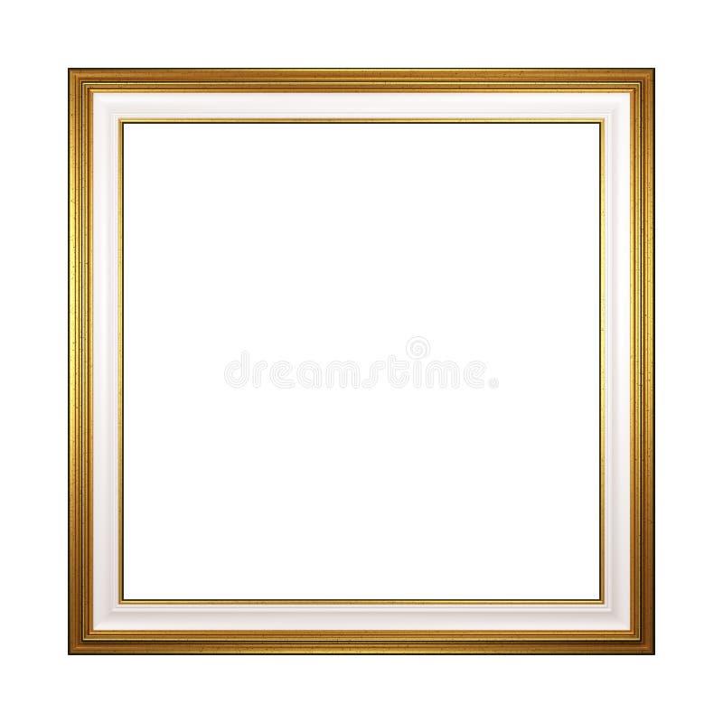 Cornice vuota quadrata dorata isolata illustrazione vettoriale