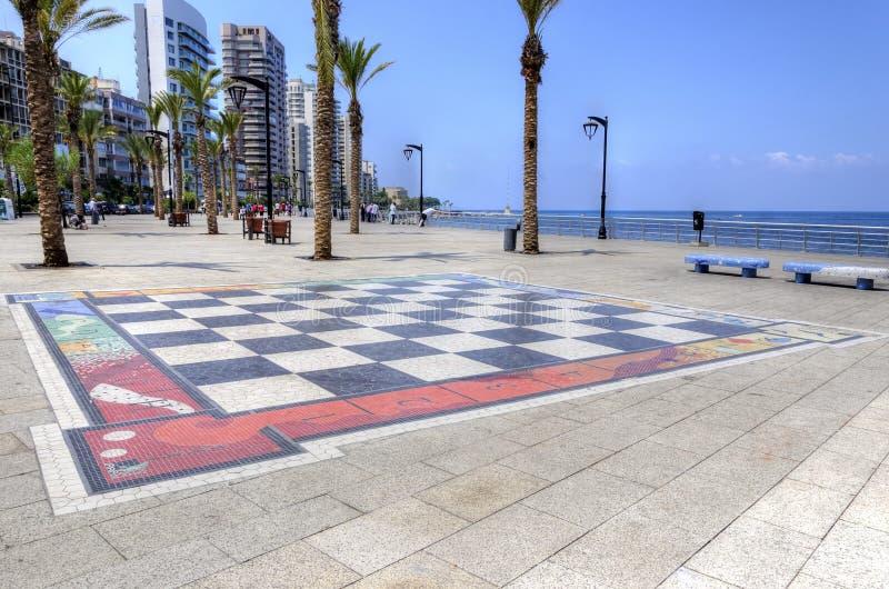 Corniche Beiroet, Libanon stock fotografie