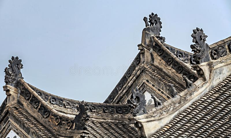 Corniche chinoise du ` s de bâtiment photo stock