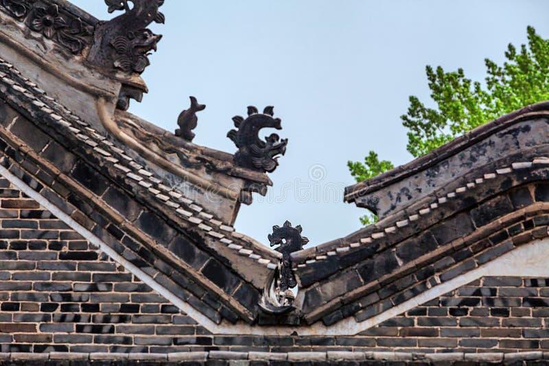 Corniche chinoise du ` s de bâtiment photos libres de droits