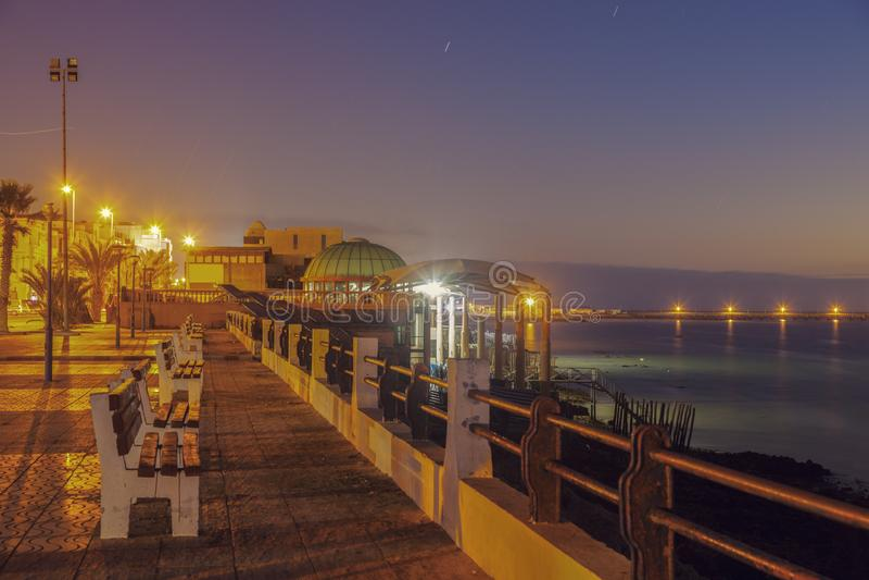 Corniche dans Dakhla photos stock