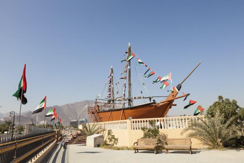 Corniche dans Khor Fakkan, EAU photographie stock