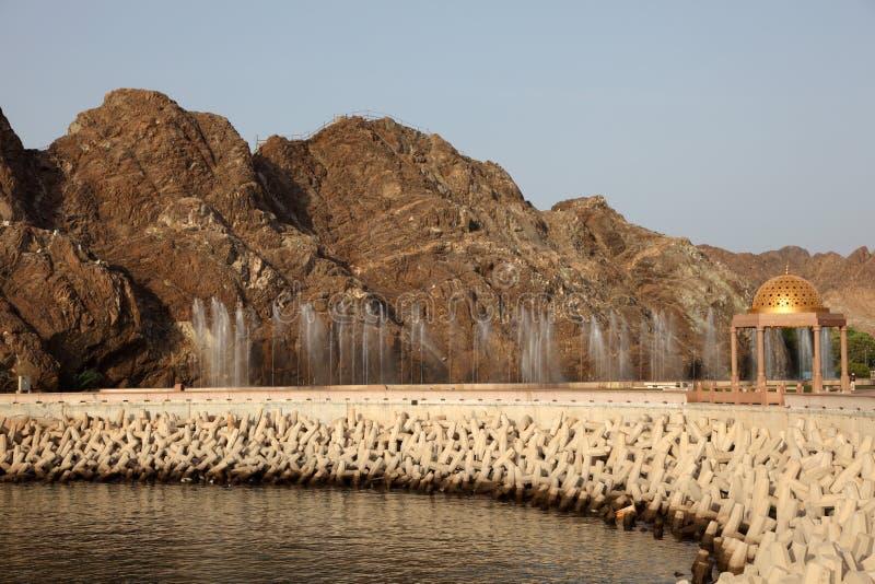 Corniche dans Muttrah, Oman image stock