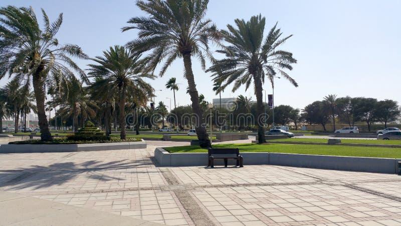 Corniche, Doha, Catar foto de stock