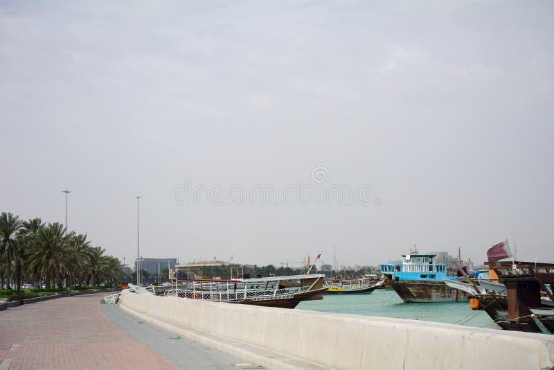 corniche doha Qatar photographie stock