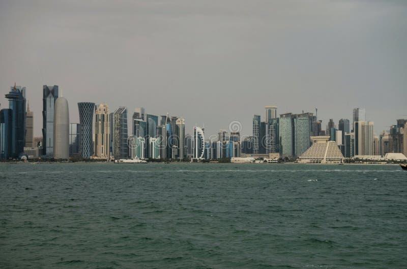 Corniche du Qatar Doha image libre de droits