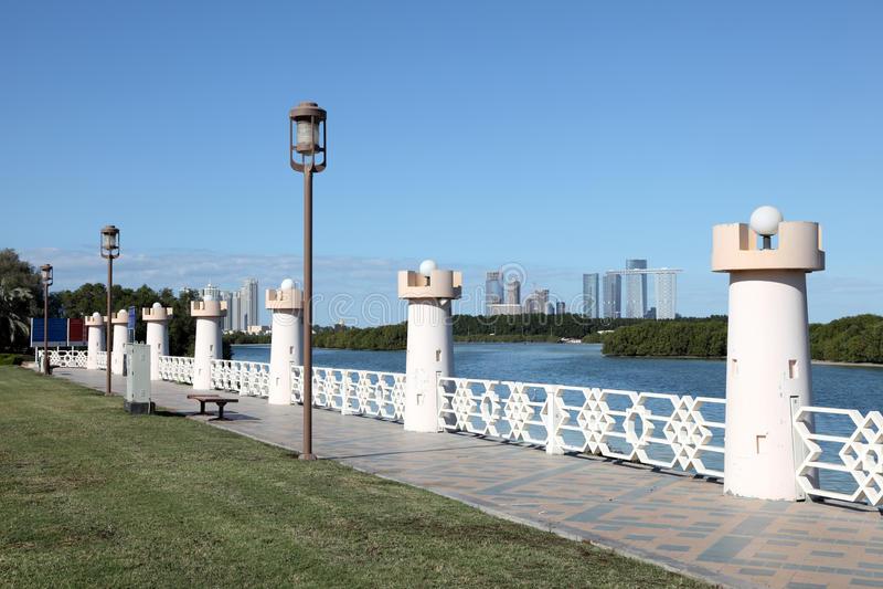 Corniche en Abu Dhabi photo stock
