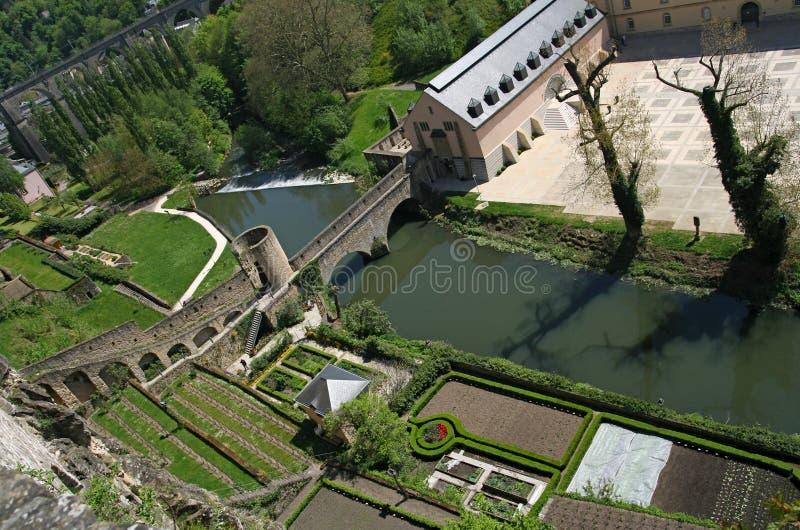 corniche luxembourg visar royaltyfria bilder