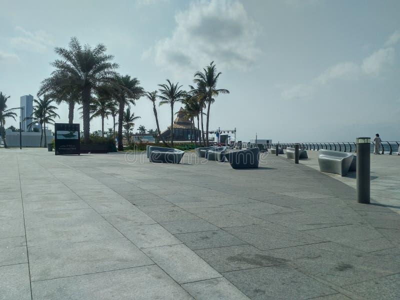 Corniche novo, Jeddah, Arábia Saudita imagem de stock