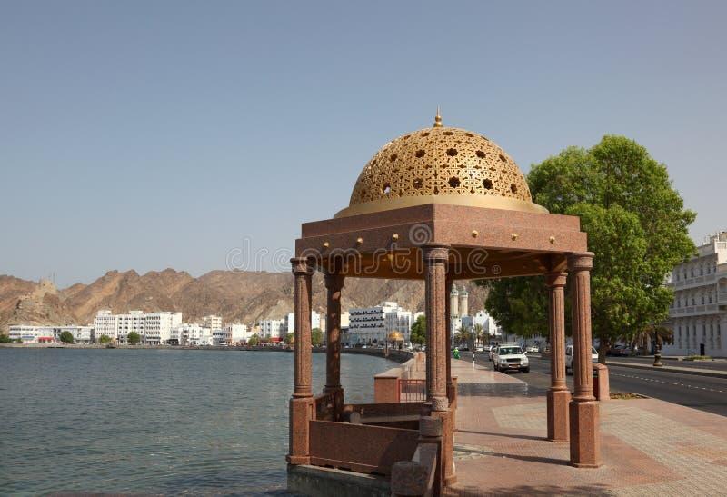 Corniche van Muttrah, Oman stock afbeeldingen