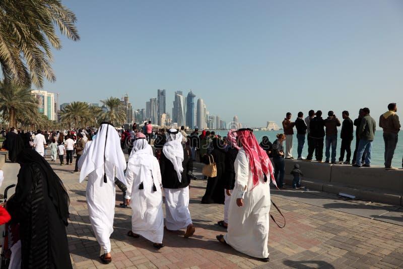 Corniche von Doha, Katar lizenzfreie stockbilder