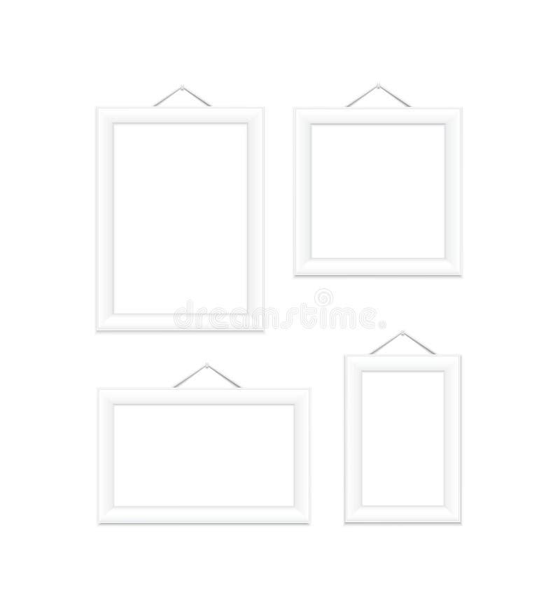 Cornici bianche illustrazione di stock illustrazione di for Cornici foto bianche