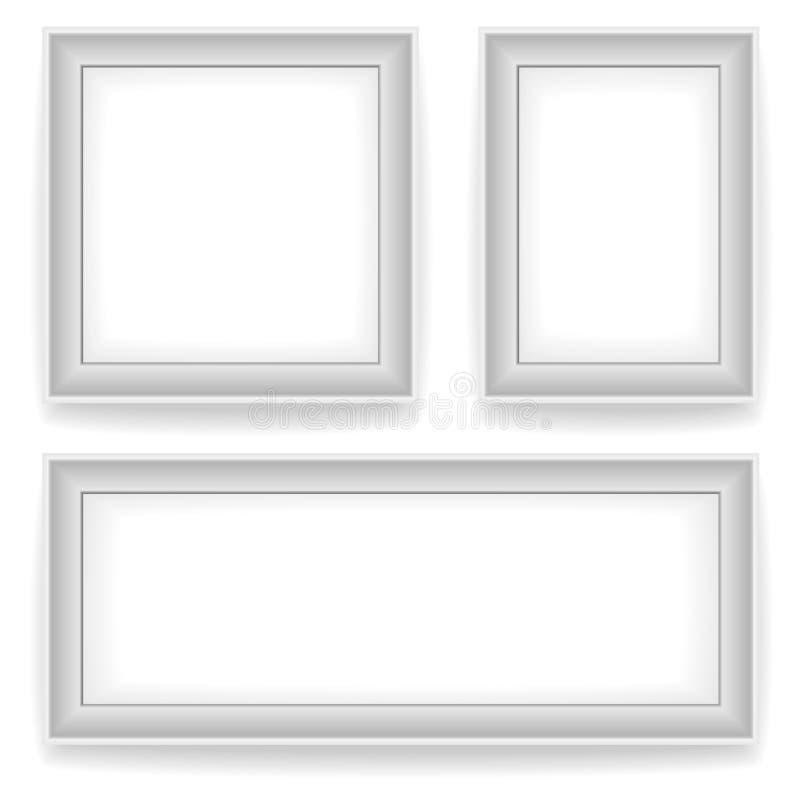 Cornici bianche in bianco della parete illustrazione for Cornici bianche