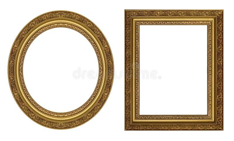 Cornici dell'oro immagini stock libere da diritti