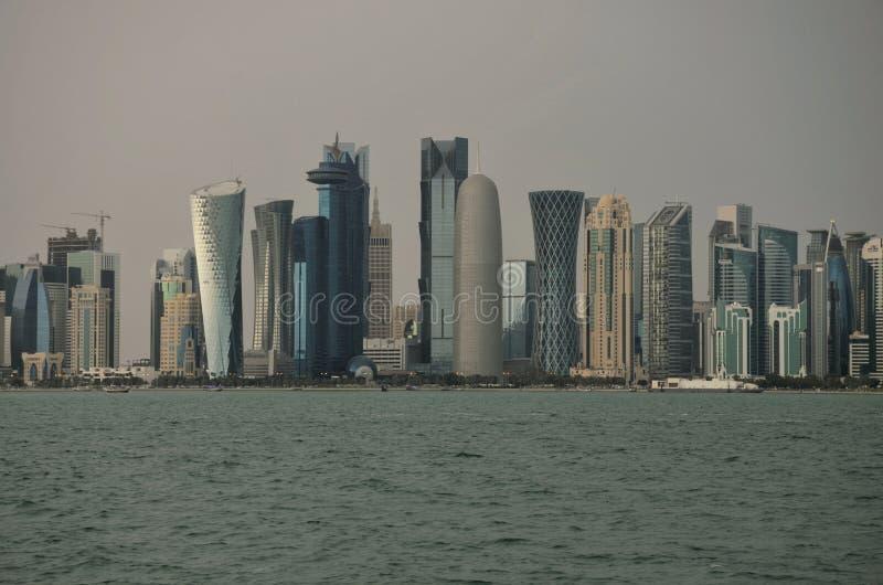 Cornicione del Qatar Doha fotografia stock libera da diritti