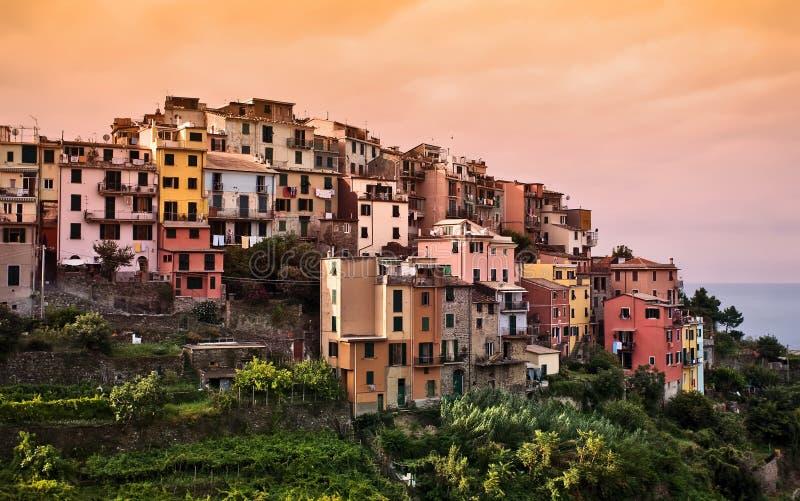 Corniglia, Cinque Terre, Italia. fotografie stock