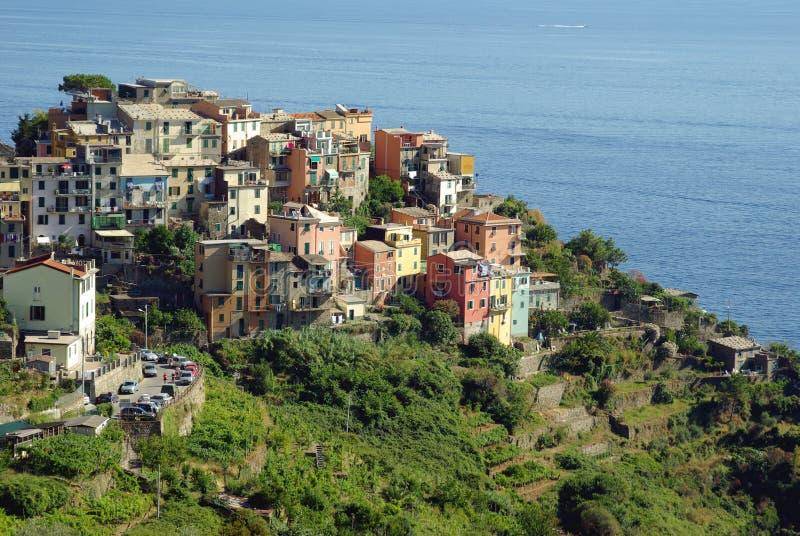 Corniglia, Cinque Terre, Italia fotografie stock libere da diritti