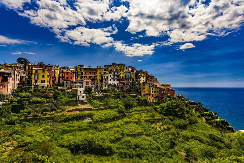 Corniglia, Cinque Terre, Italien stockbild