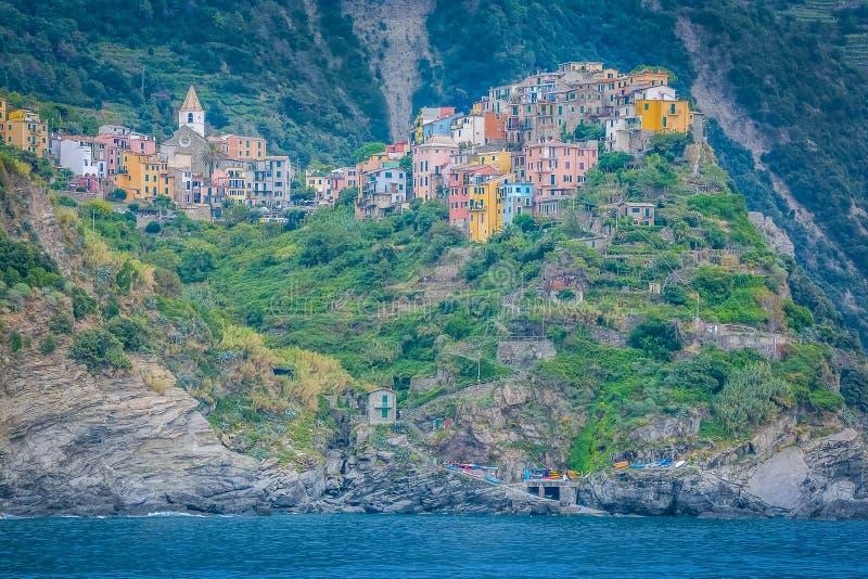 Corniglia, Cinque Terre, Liguria, Itália fotos de stock royalty free