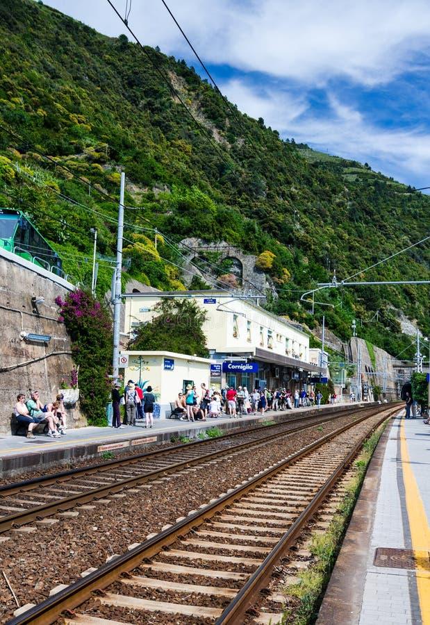 Corniglia dworzec, Cinque Terre fotografia stock