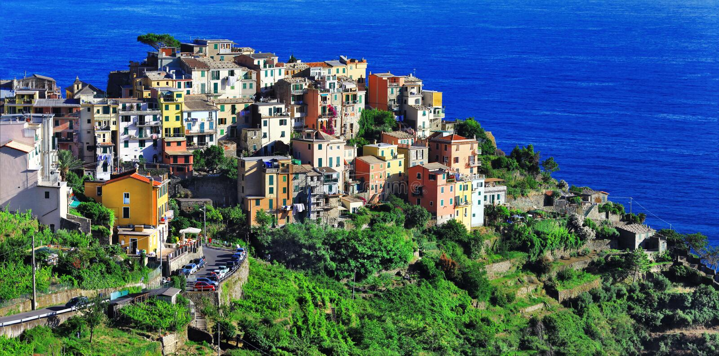 Corniglia, terre de Cinque, Itália fotografia de stock