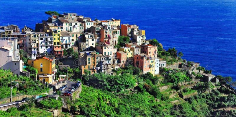 Corniglia, terre di Cinque, Italia fotografia stock
