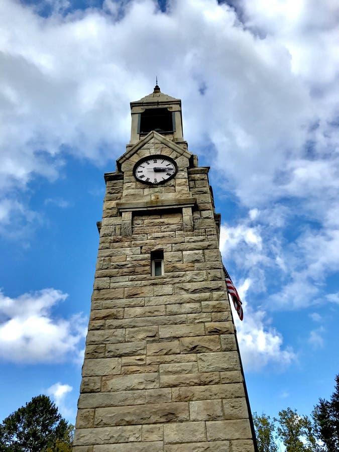Corning, башня с часами Нью-Йорка Centerway стоковые фото