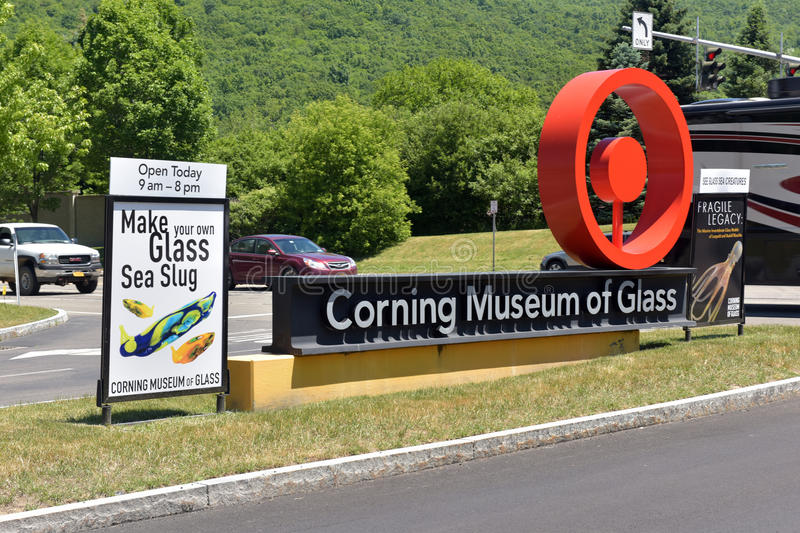 The Corning Museum of Glass. USA royalty free stock photography