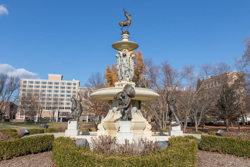 Corning Pamiątkowa fontanna w Bushnell parku, Hartford CT zdjęcie royalty free