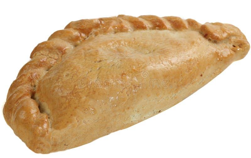 Cornish πίτα στο λευκό στοκ εικόνες