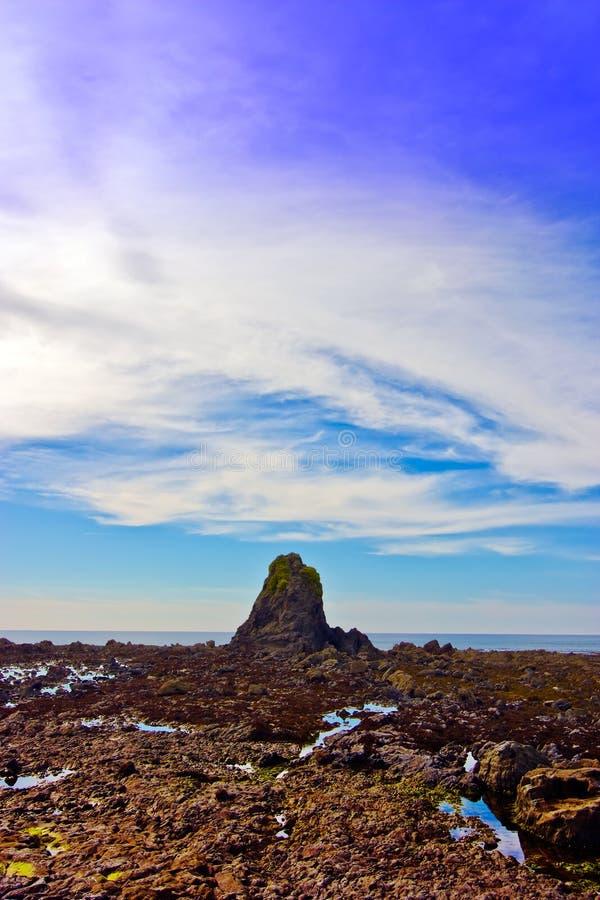 Download Black Rock in Cornwell stock photo. Image of quiet, coastline - 26779980