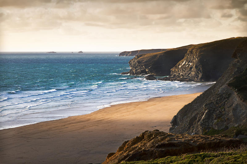 Download Cornish Coast Near Newquay, Cornwall, England Stock Photo - Image: 23896322