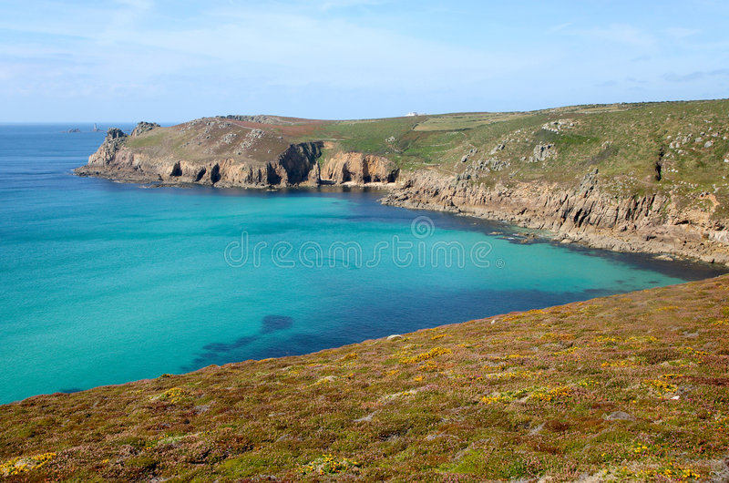 Download Cornish Coast Path To Lands End. Stock Images - Image: 3392614