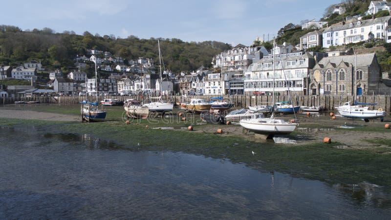 Cornish fishing port stock photos