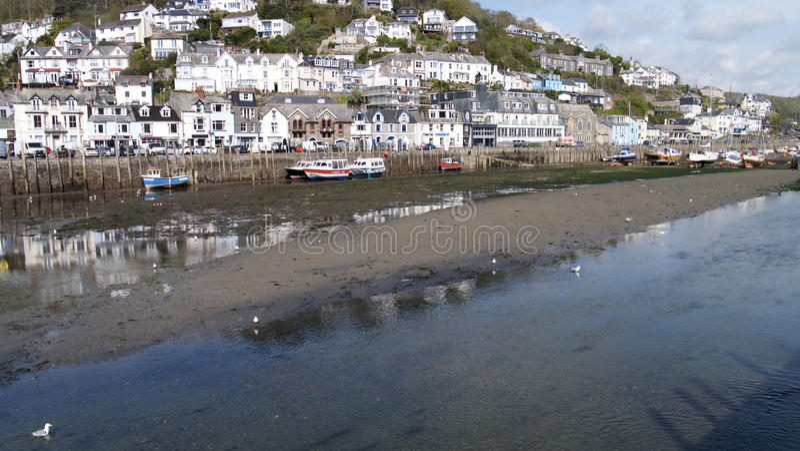Cornish fishing port stock images