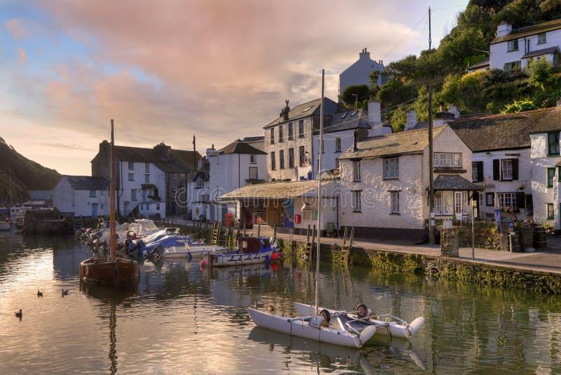 Cornish fishing village stock photography