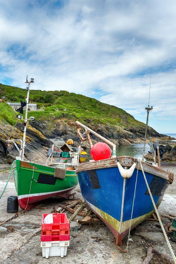 Cornish fiskeläge arkivbild