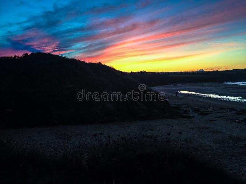 Cornish sunset stock images