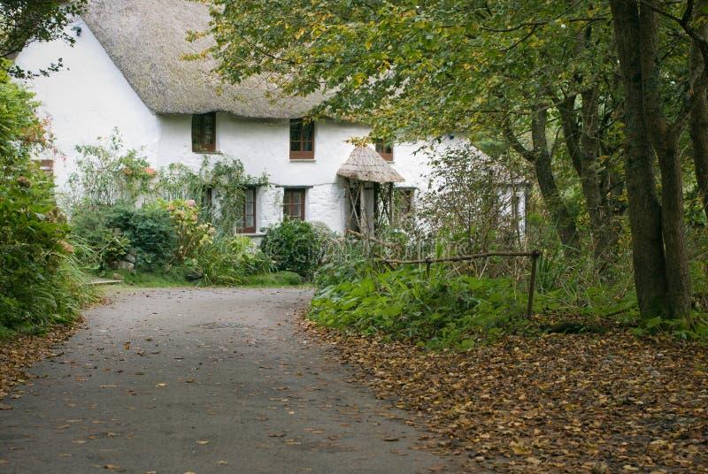 Cornish village cottage royalty free stock photography